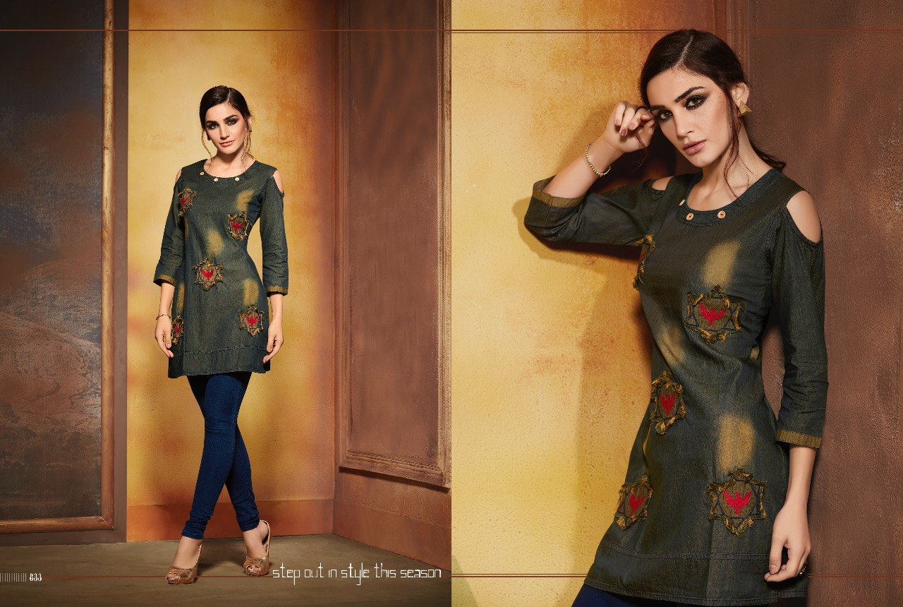Kajree Walker Denim Kurtis