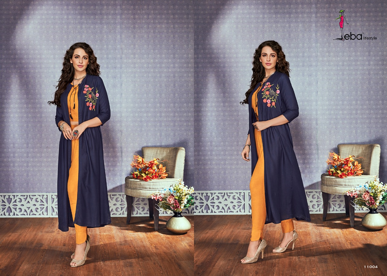 Eba Fancy Kurtis Top With Fancy Bottom Catalog Vol 11
