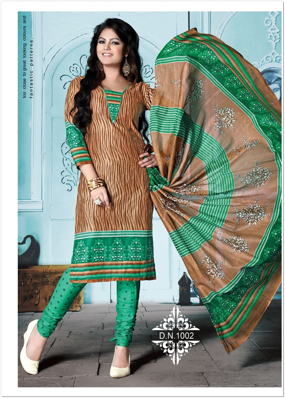 Heer Low Range Printed Cotton Dress Material