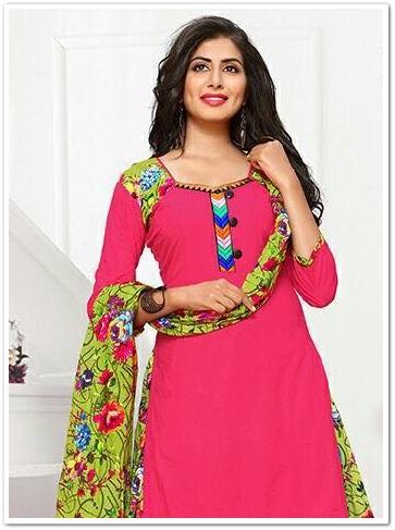 Kismis Printed Patiala Cotton Dress Material