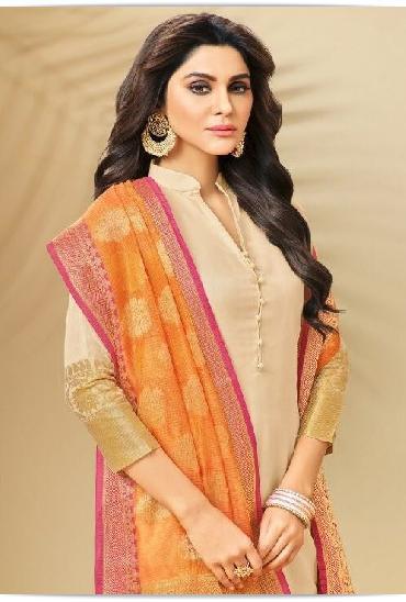 Candy Banarasi Silk Designer Salwar Suit