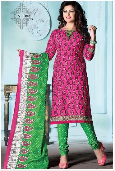 Heer Low Range Printed Cotton Dress Material