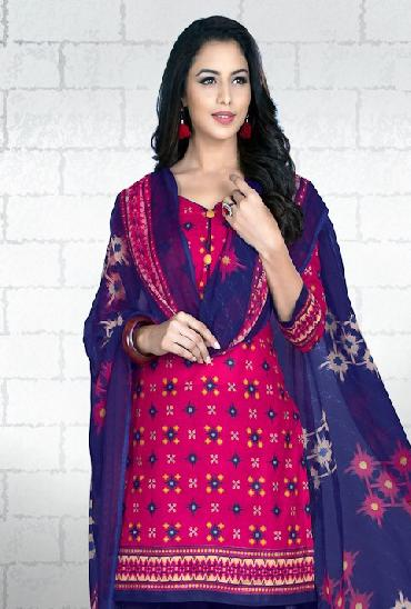 JK Glamours Vol 3 Printed Cotton Dress Material