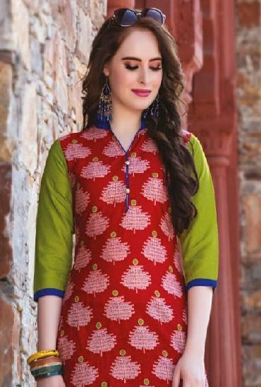 Kajal Style Baby Doll Cotton Kurtis Vol 5