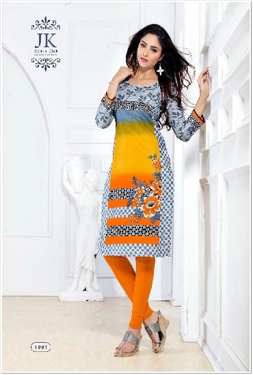 Maya Printed Cotton Unstitched Kurties Material